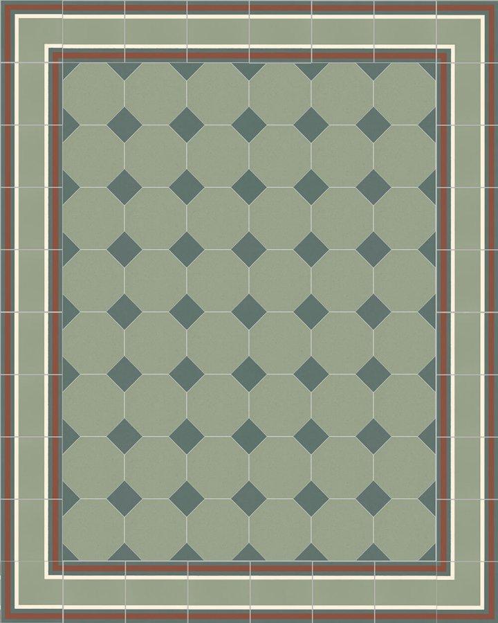 Floor tiles Stoneware octagonal Verlegebeispiel SF 80A.22 S