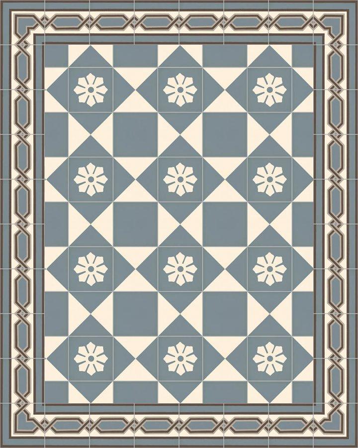 Floor tiles Art Nouveau tiles Layouts and patterns SF 557 A
