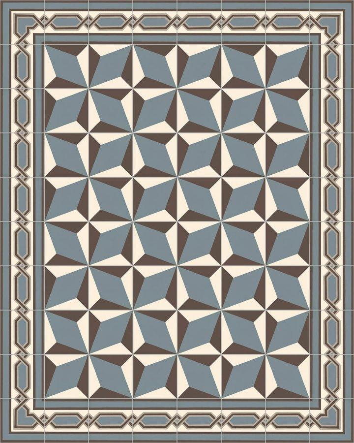 Floor tiles Art Nouveau tiles Layouts and patterns SF 557 A e