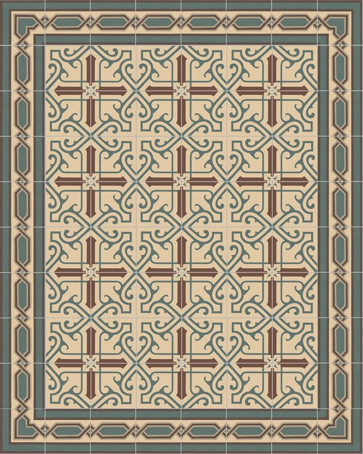Floor tiles Art Nouveau tiles Layouts and patterns SF 557 B
