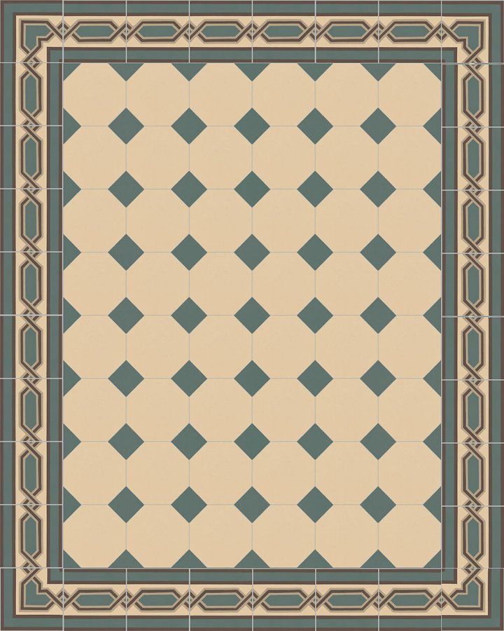 Floor tiles Stoneware octagonal Verlegebeispiel SF 80A.2