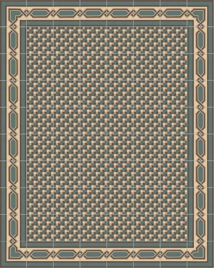 Floor tiles Art Nouveau tiles Layouts and patterns SF 557 B e