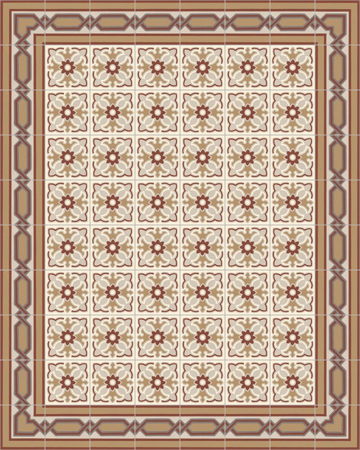 Floor tiles Art Nouveau tiles Layouts and patterns SF 557 D e