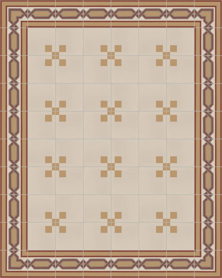 Floor tiles Floor Tiles multi-coloured Layouts and patterns SFTG 8207 D a