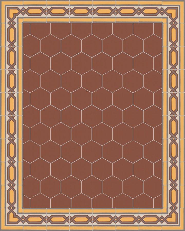 Floor tiles Stonware hexagona floor tiles hexagonal SF 17.10