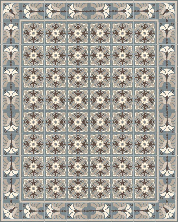 Floor tiles Floor Tiles multi-coloured Verlegebeispiel SF 357 I