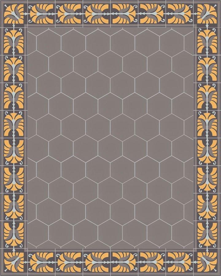Floor tiles Stonware hexagona floor tiles hexagonal SF 17.5