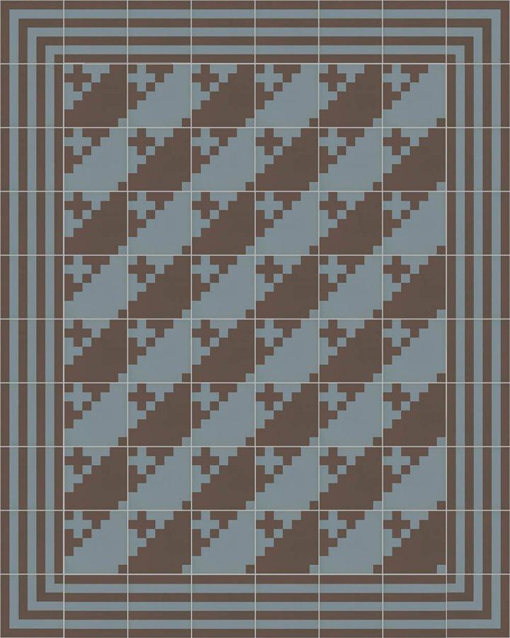 Carreaux pour sol Grès fin - polychrome Calepinage SFTG 7202 A e