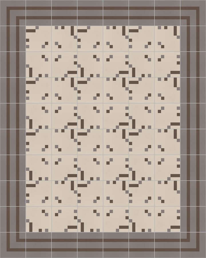 Floor tiles Floor Tiles multi-coloured Layouts and patterns SFTG 8202 E
