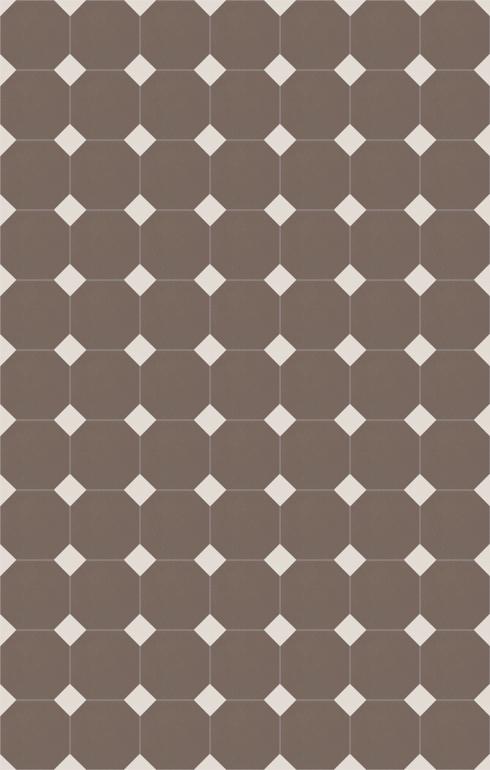 Floor tiles Stoneware octagonal Verlegebeispiel SF 82A.24s