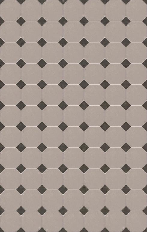 Floor tiles Stoneware octagonal Verlegebeispiel SF 82A.4