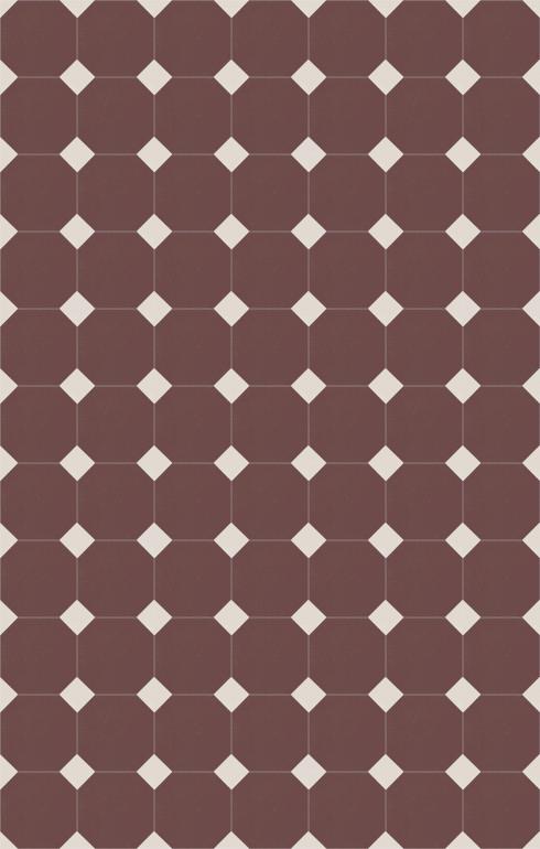Floor tiles Stoneware octagonal Verlegebeispiel SF 82A.9