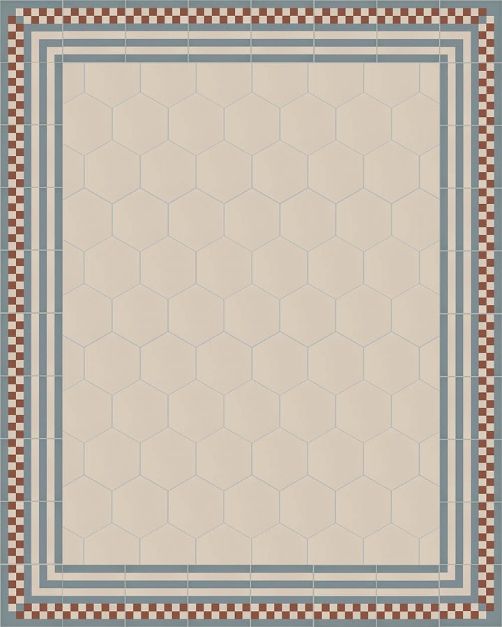 Floor tiles Stonware hexagona floor tiles hexagonal SF 17.3