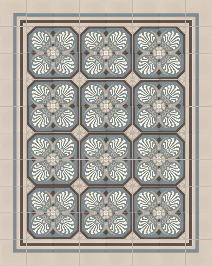 Floor tiles Floor Tiles multi-coloured Layouts and patterns SFTG 8308 A e