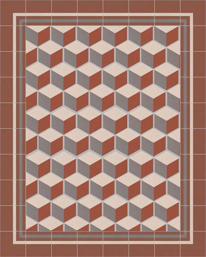 Carreaux pour sol Grès fin - polychrome Carreaux hexagonal SF 317 F