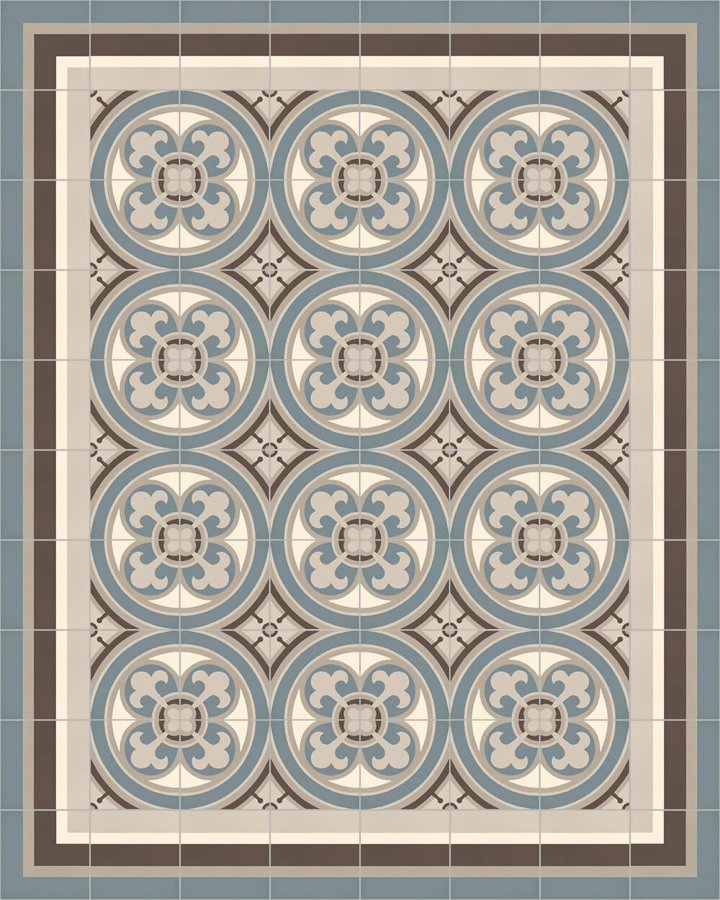 Floor tiles Floor Tiles multi-coloured Layouts and patterns SFTG 8505 A e