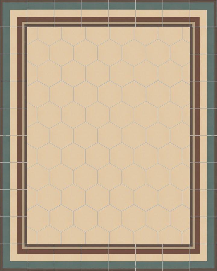 Floor tiles Stonware hexagona floor tiles hexagonal SF 17.2
