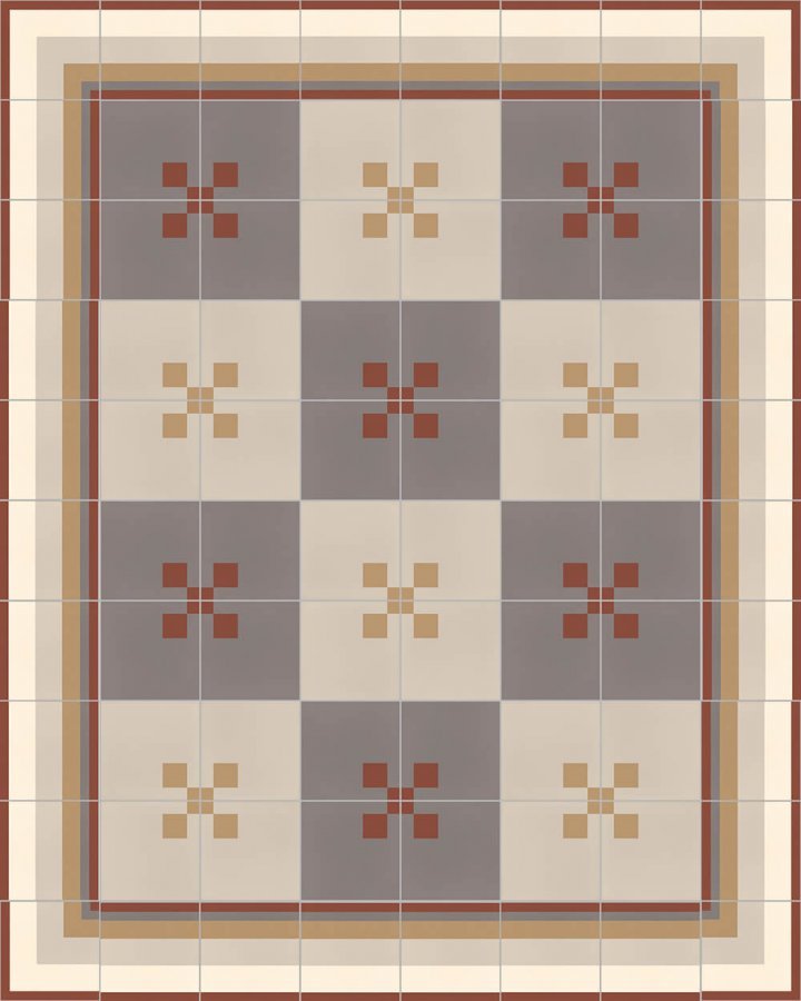 Floor tiles Floor Tiles multi-coloured Layouts and patterns SFTG 11503 D