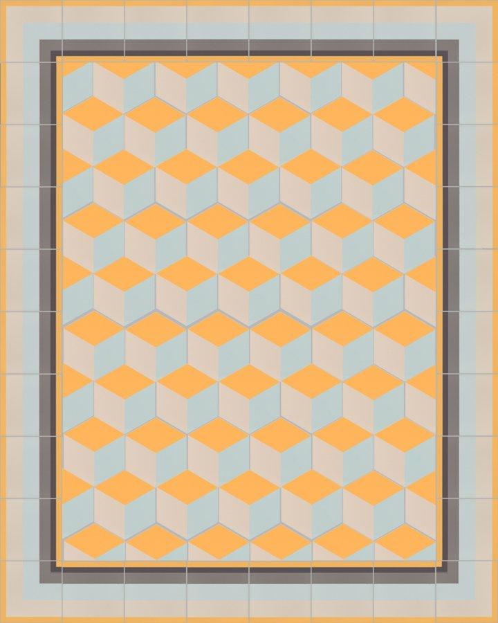 Floor tiles Floor Tiles multi-coloured stoneware hexagonal SF 317 H