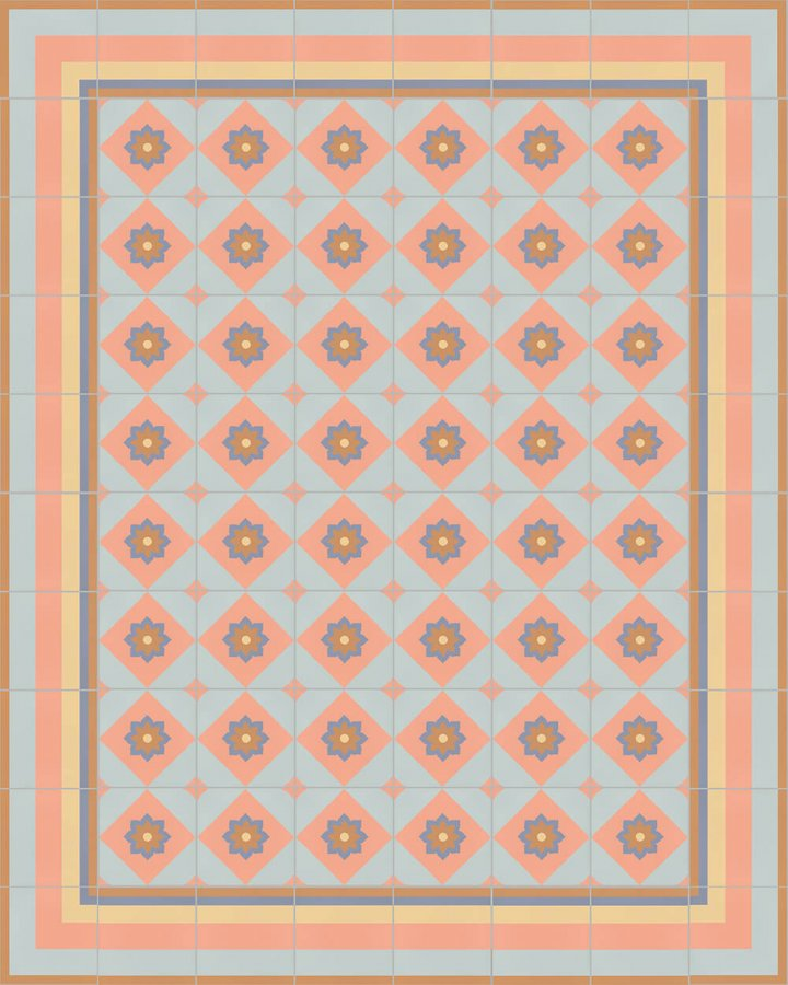 Floor tiles Floor Tiles multi-coloured Layouts and patterns SFTG 11503 N