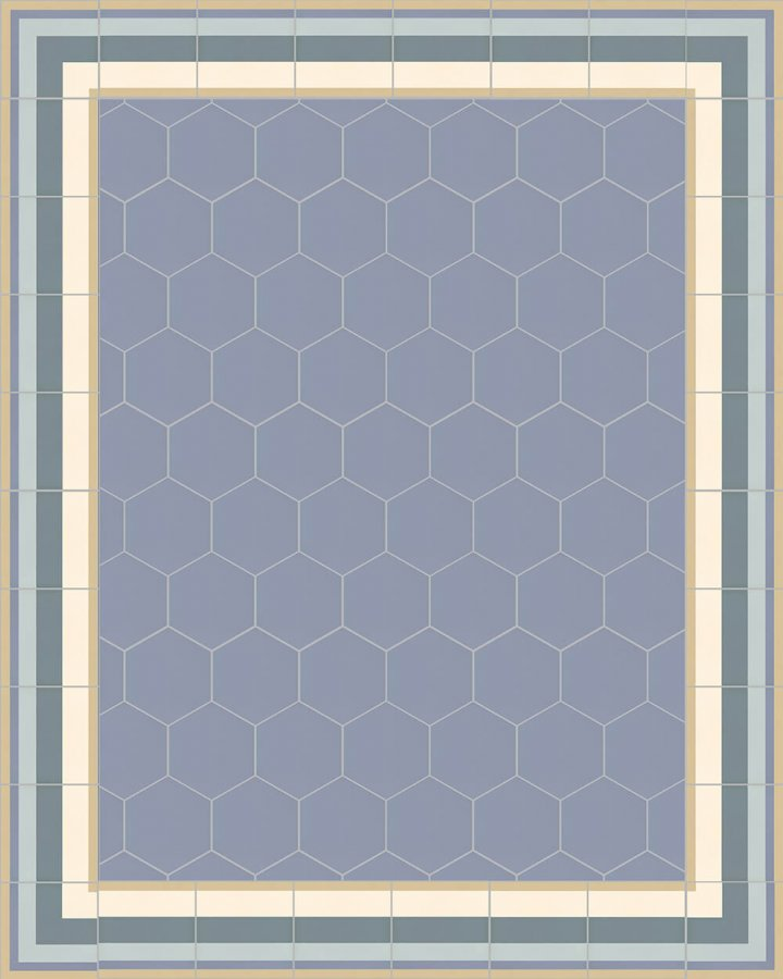 Floor tiles Stonware hexagona floor tiles hexagonal SF 17.15 S