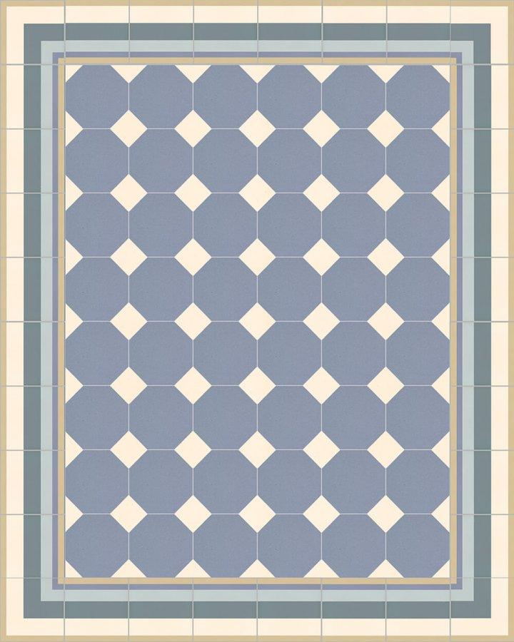 Floor tiles Stoneware octagonal Verlegebeispiel SF 80A.15 S
