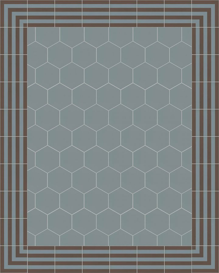 Carreaux pour sol Carreaux hexagonal Carreaux hexagonal SF 17.13 S