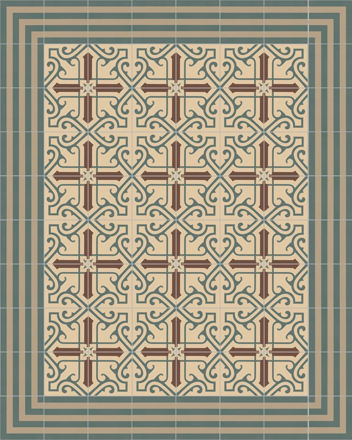 Floor tiles Floor Tiles multi-coloured Layouts and patterns SFTG 7202 B e