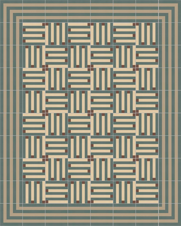 Floor tiles Floor Tiles multi-coloured Layouts and patterns SFTG 8301 B