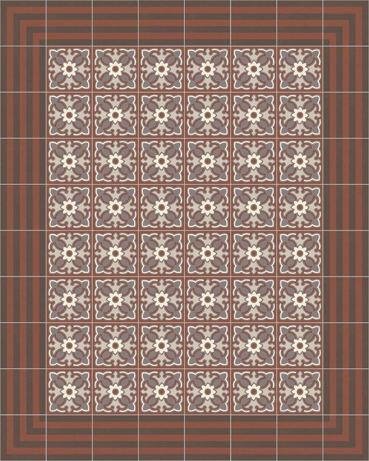 Carreaux pour sol Grès fin - polychrome Calepinage SFTG 7202 F