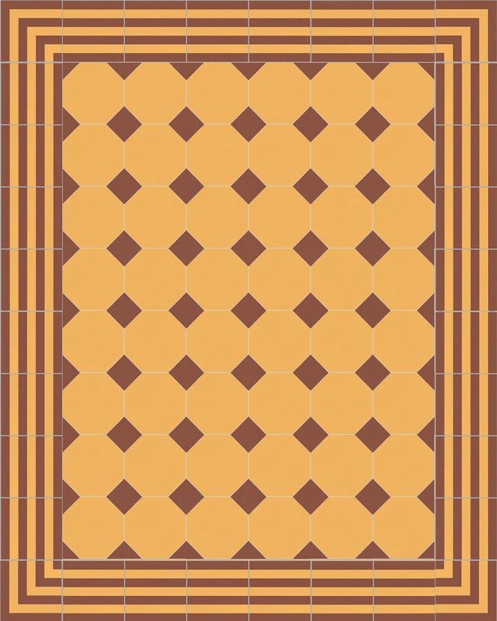 Floor tiles Stoneware octagonal Verlegebeispiel SF 80A.12 S