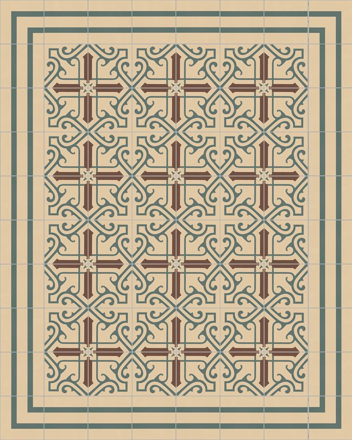 Floor tiles Floor Tiles multi-coloured Layouts and patterns SFTG 8202 B e