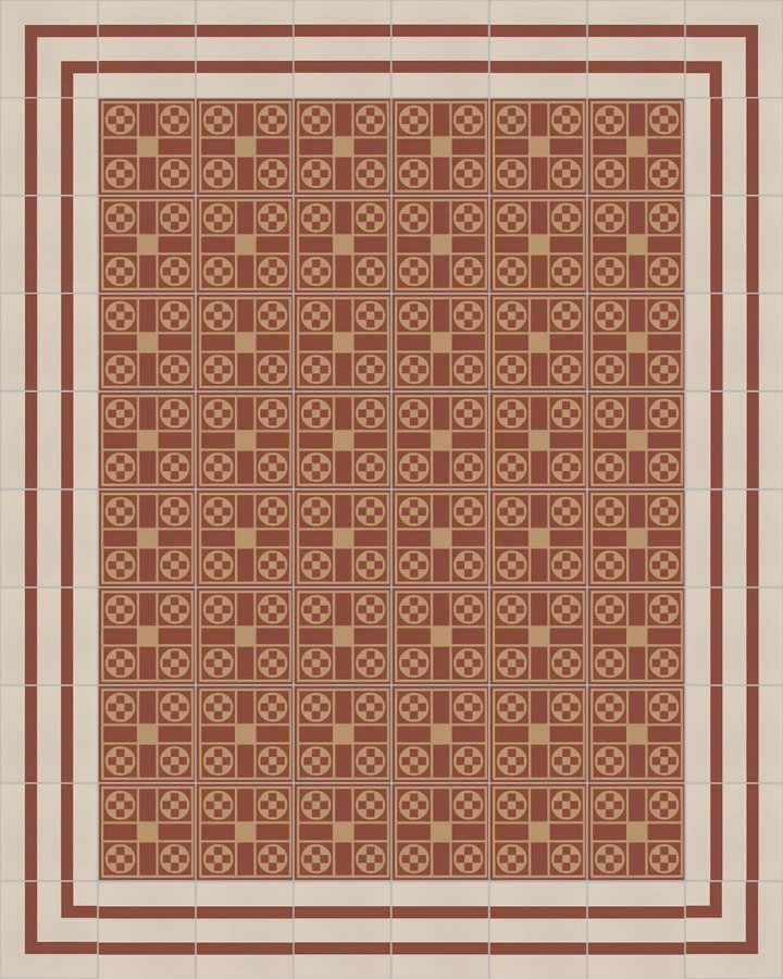 Floor tiles Floor Tiles multi-coloured Layouts and patterns SFTG 8202 D