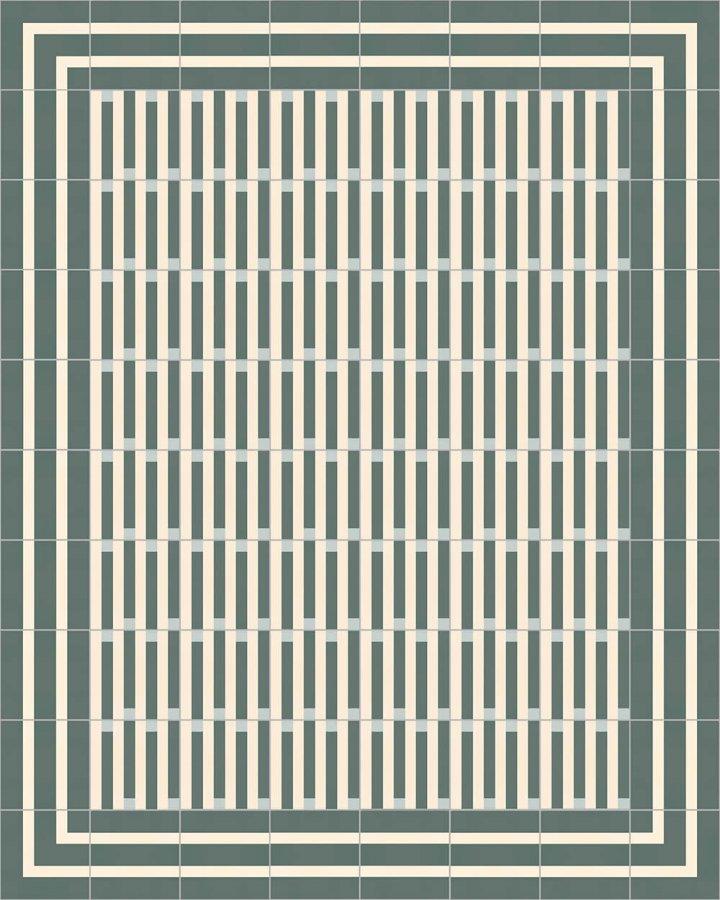 Carreaux pour sol Grès fin - polychrome Calepinage SFTG 8301 G