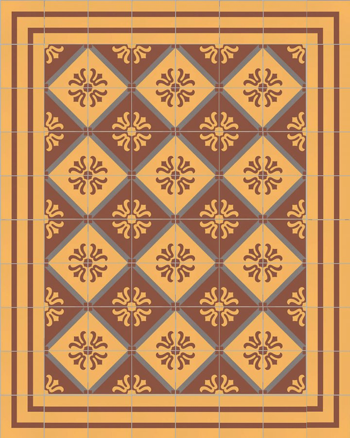 Floor tiles Floor Tiles multi-coloured Layouts and patterns SFTG 8202 K e