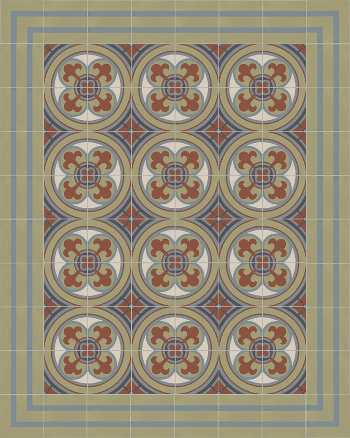 Floor tiles Floor Tiles multi-coloured Layouts and patterns SFTG 8202 L e