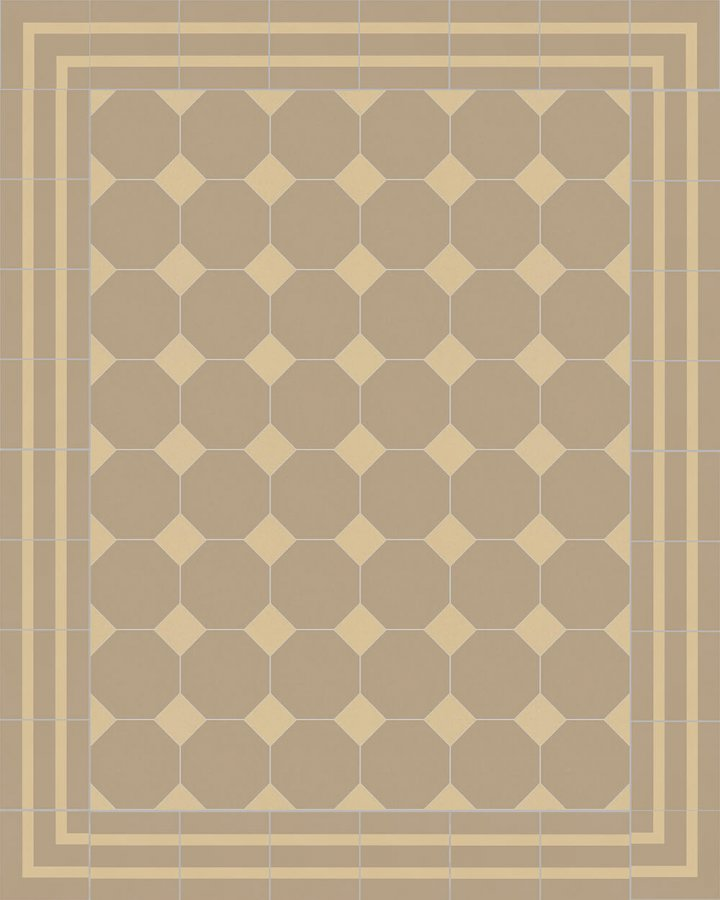 Floor tiles Stoneware octagonal Verlegebeispiel SF 80A.20 S