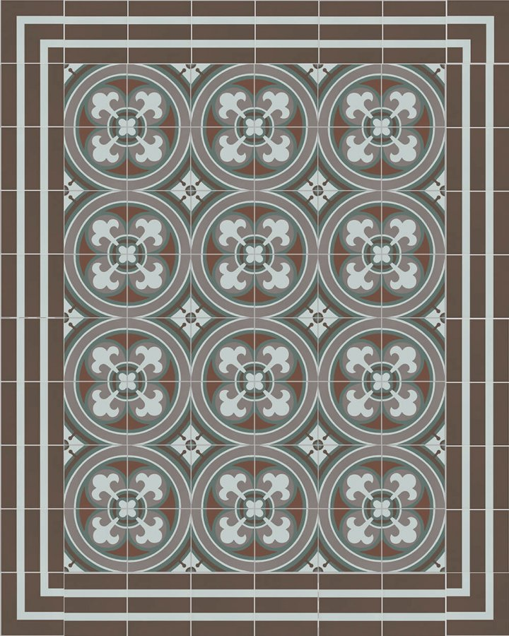 Floor tiles Floor Tiles multi-coloured Layouts and patterns SFTG 8202 R e