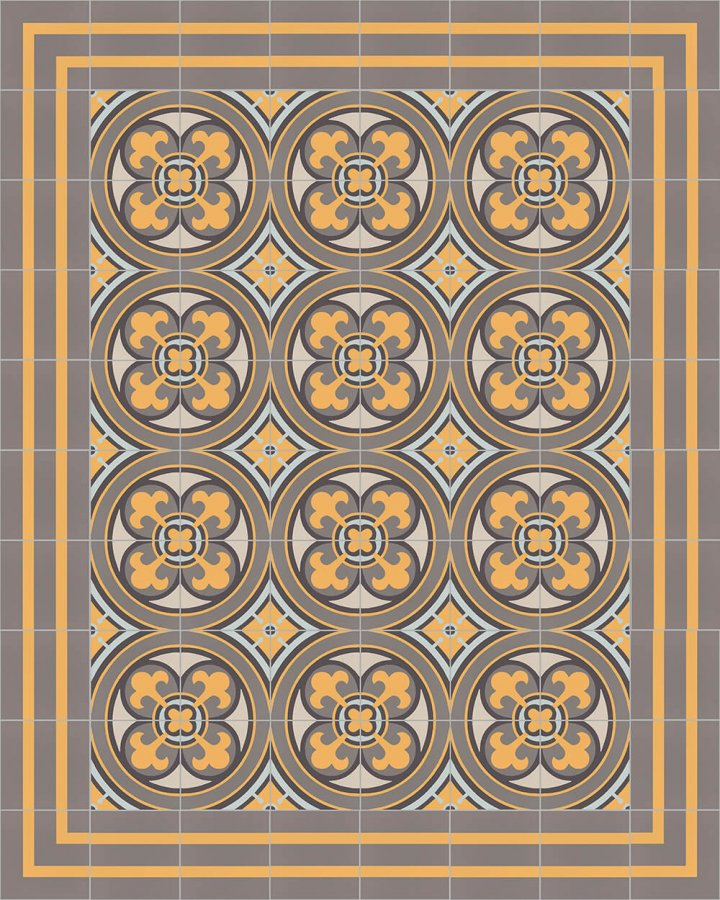 Floor tiles Floor Tiles multi-coloured Layouts and patterns SFTG 8202 H