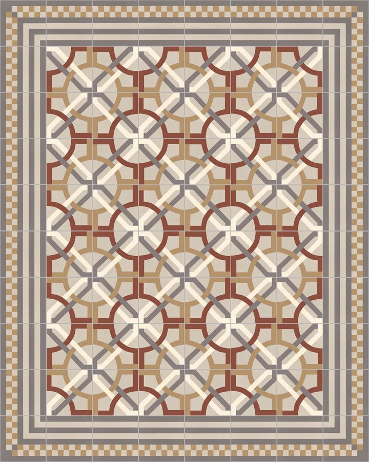 Floor tiles Floor Tiles multi-coloured Layouts and patterns SFTG 8303 D