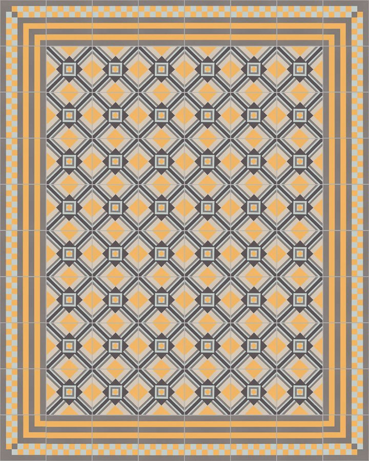 Floor tiles Floor Tiles multi-coloured Layouts and patterns SFTG 8303 H