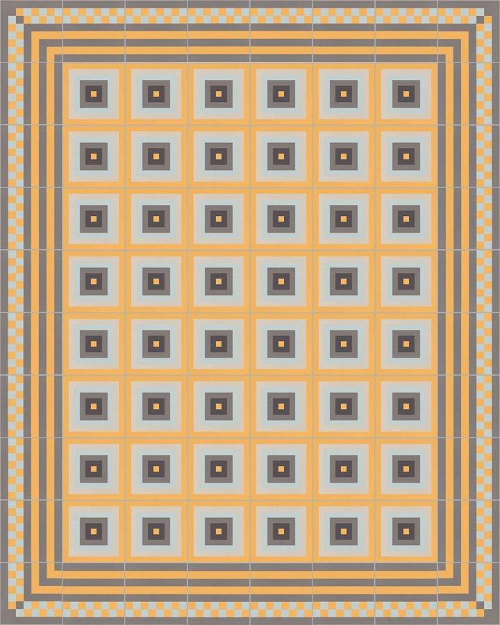 Carreaux pour sol Grès fin - polychrome Calepinage SFTG 8303 H e