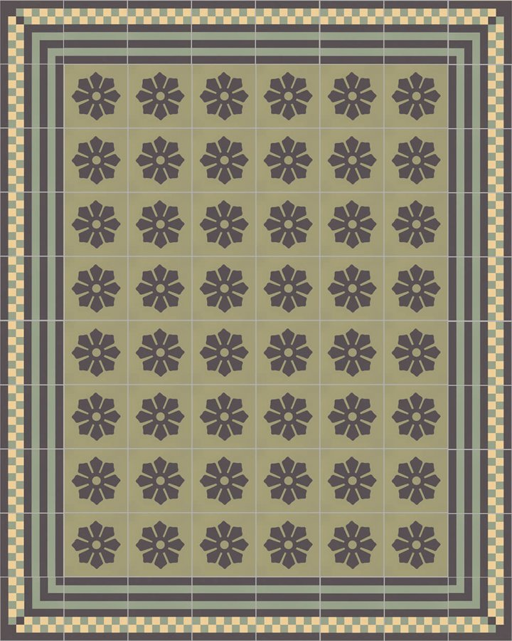 Floor tiles Floor Tiles multi-coloured Layouts and patterns SFTG 8303 J e
