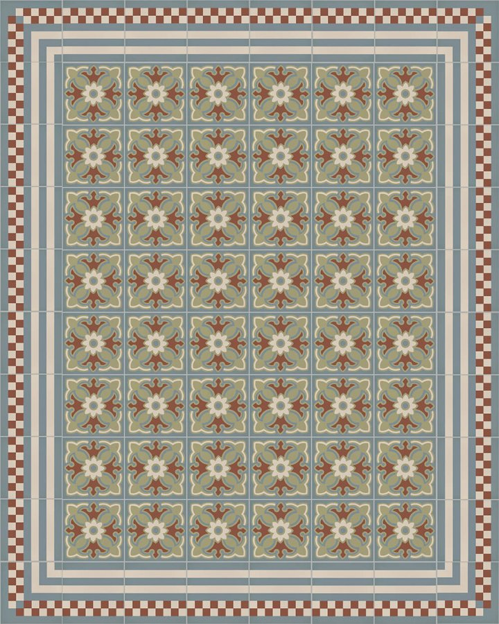 Floor tiles Floor Tiles multi-coloured Layouts and patterns SFTG 8303 L
