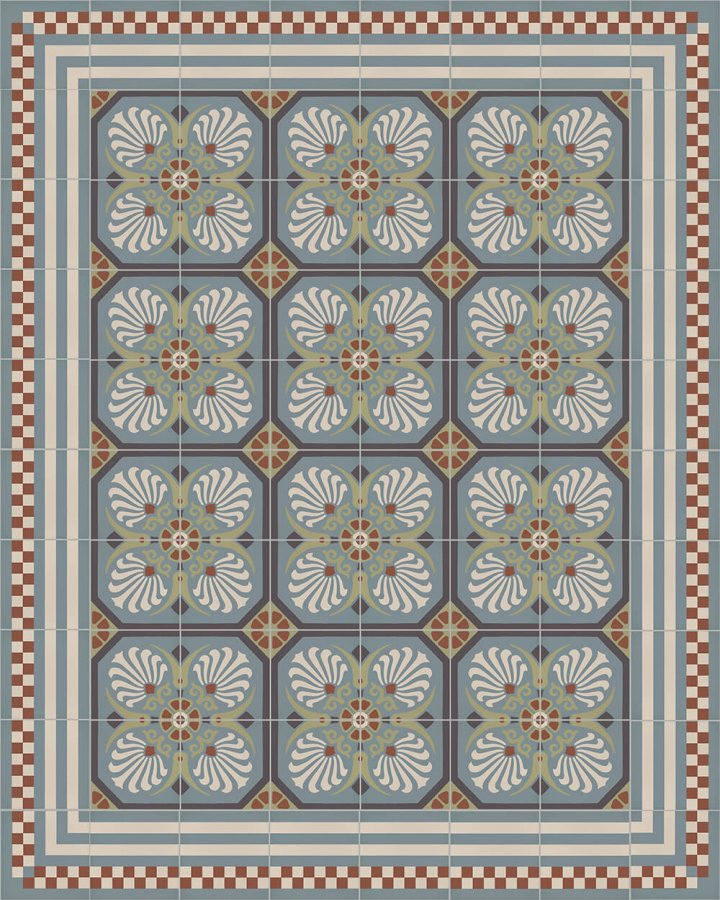 Floor tiles Floor Tiles multi-coloured Layouts and patterns SFTG 8303 L e