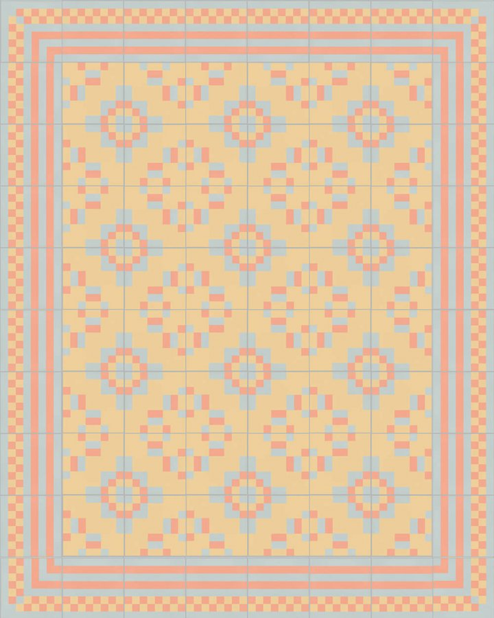 Floor tiles Floor Tiles multi-coloured Layouts and patterns SFTG 8303 N e