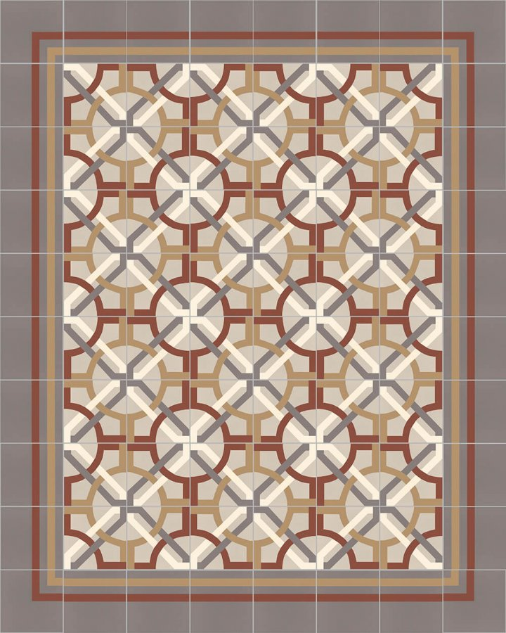 Floor tiles Floor Tiles multi-coloured Layouts and patterns SFTG 8308 D