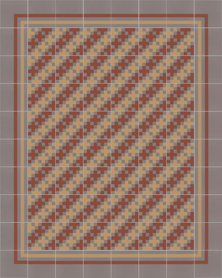 Floor tiles Floor Tiles multi-coloured Layouts and patterns SFTG 8306 D