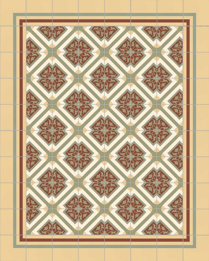 Floor tiles Floor Tiles multi-coloured Layouts and patterns SFTG 8308 I
