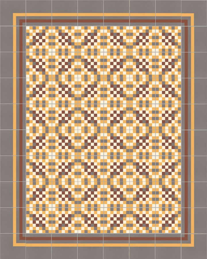 Floor tiles Floor Tiles multi-coloured Layouts and patterns SFTG 8308 K